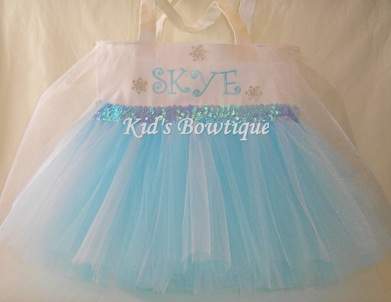 Tutu Bag For a Girl Who Loves Disney Frozen Princess Elsa - Halloween Bag