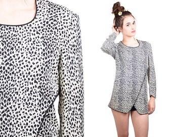 Vintage Leopard Tunic /dress Size 6