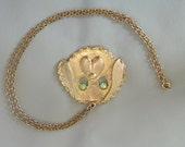 Vintage Dog Face Necklace Pendant