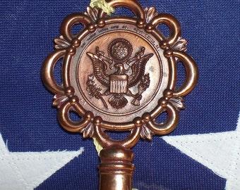Washington DC Souvenir Metal Key by the Almar Metal Arts Co. 1961