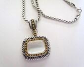 Vintage Avon Long Necklace Designer SP Sautoir Faux MOP