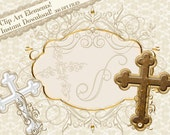 Clip Art, Religious Clipart, Cross Clipart, Frames and Flourishes