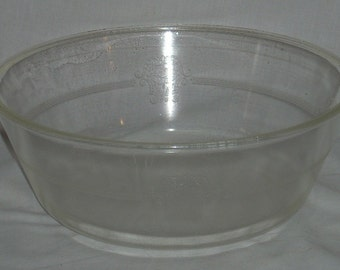 McKee Glass Glasbake Large Poppy Casserole Bowl Dish 10 1/4 diameter