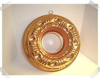 Round Bundt Tin Jello Mold/Copper Finish/ Kitchen Ware/ Vintage*