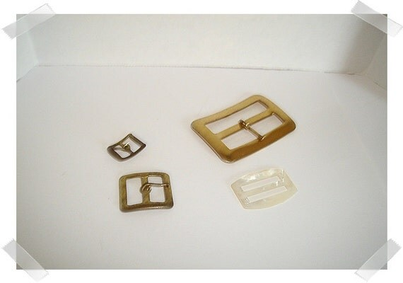 Vintage Buckles/Set of 4 Assorted/ Craft Supplies*