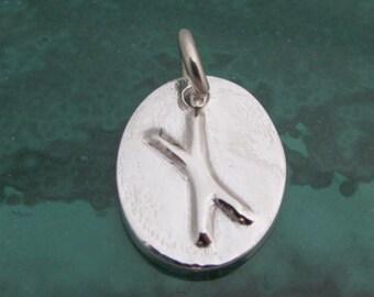 Fine Silver Naudiz (Nauthiz) Rune
