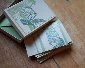 Treehouse Note Cards - Boxed Set of 6 Letterpress Cards