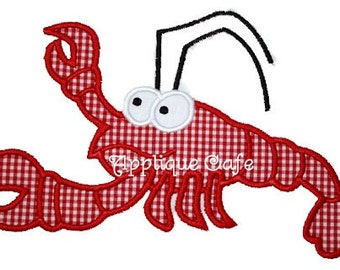 122 Lobster Machine Embroidery Applique Design
