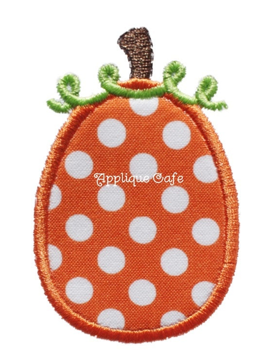Mini pumpkin machine embroidery applique design