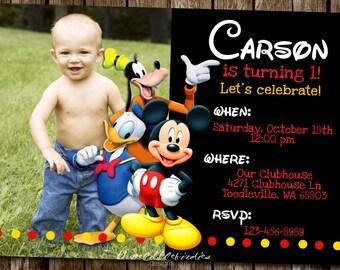 Mickey Donald and Goofy Invitation!