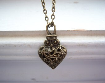 Heart Necklace -Vervain Necklace - Vampire Necklace  - Free Gift With Purchase