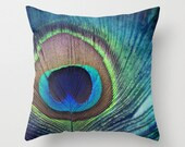 PEACOCK LOVE Throw Pillow Cases, Cushion Cases, Custom Photo Pillow, Photography Pillow Cover with insert 16x16