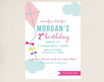 Kite Birthday Invitations