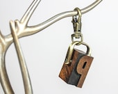 YOU PICK – Wooden Letterpress Keychain