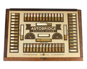 1950's Autobridge Playing Board