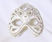 CUSTOM Masquerade Mask - White Mask - Wedding mask - Venetian Mask - Crystal Mask - Rhinestone Mask - Lorelei
