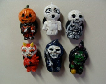 Spooky Halloween  Refrigerator Magnets set A (Full Body Cutie Style)