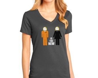 Chic Dress to Prison Jumpsuit T-Shirt as Inspired by Orange is the New Black
