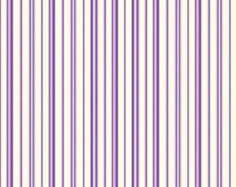 Zoey Royal Purple Candy Straws by Eleanor Burns for Benartex Cotton Fabric 715-36