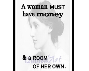 VIRGINIA WOOLF Quoted Art print - own room