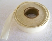 Cream Cotton Bias Tape Large Roll Off White Trim Vintage