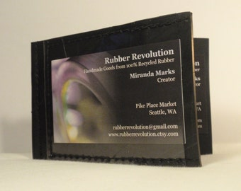 Recycled Rubber Money Clip ID Wallet