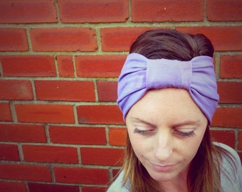 Deep Lavender Jersey Turban Headband - Womens & Girls Organic Accessory - Hand Dyed - Summer Beach Fashion - Ready to Ship