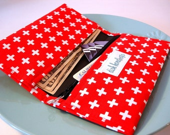 Swiss Army Cross Checkbook Cover