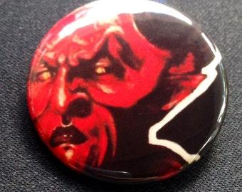 Legend Darkness Illustration Art Pop Art 1 1/2  inch pin button Tim Curry