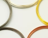 Best Bracelet Memory Wire - Your Choice Silver Plate, Gold Plate, Hematite, Stainless Steel, Copper in 4 Sizes and 2 Shapes