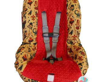 Tattoo Toddler Car Seat Cover