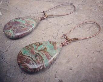 Lace Agate Meditation Earrings