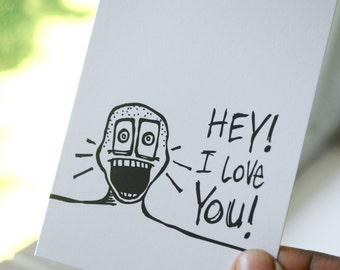 Hey! I Love You! / Peety Notecard