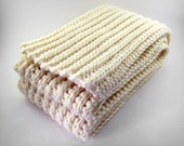 Classic Cream Knit Scarf
