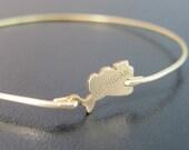 Michigan State Bracelet, State of Michigan Jewelry, Gold Michigan Bangle Bracelet, State of Michigan Bracelet, Michigan State Jewelry