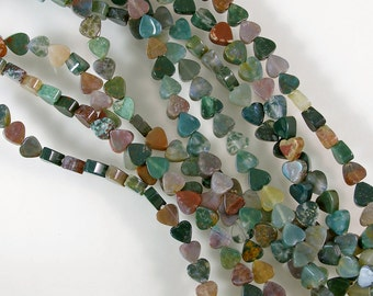 Fancy Jasper Heart Beads 60% off, qty 75