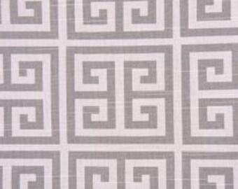 Grey greek key decorative pillow cover - Premier Prints Towers - Slub Printed in Ash Grey