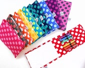 Ta Dot Mini Crayon Notebook - Twistable Crayon Rolls - pick your color gift idea kids birthday gift custom crayon holder crayon pouch