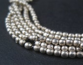 260 Silver-Color Melon Beads - Small Metal Spacers - Jewelry Making Supplies - Small Metal Beads  ** (MET-OVL-SLV-131)
