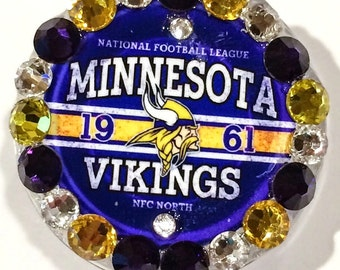 Minnesota Vikings Swarovski Crystal Embellished ID Badge Reel