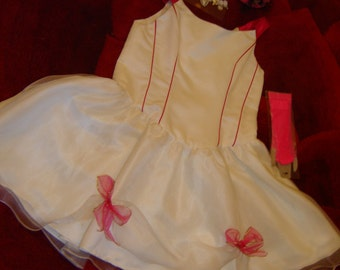 Burlesque old west saloon dance hall showgirl dress COSTUME womens M Halloween