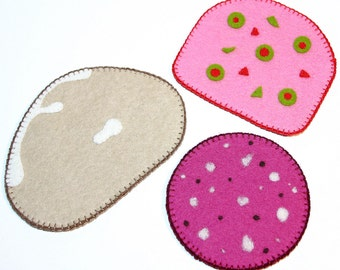 Wool Felt Play Food - Deli Meat