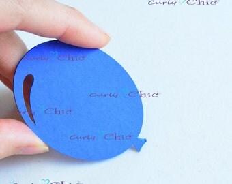 """36 Balloon Die Cut Size 2.50"""" -Paper Balloon Tags -Cardstock Balloon Labels -Cardstock die cuts -Paper tags -Balloon Labels -Paper Balloon"""