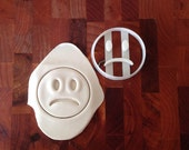 Frown smiley face cookie cutter