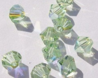 Swarovski Elements Crystal Beads BICONE  crystal beads Chrysolite AB -- Available in 4mm
