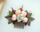 Bridal Floral head comb, wedding hair accessories, Flower comb, bouquet comb, Wedding headpiece, Hair comb