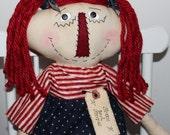 Primitive Raggedy Ann Patriotic/Americana