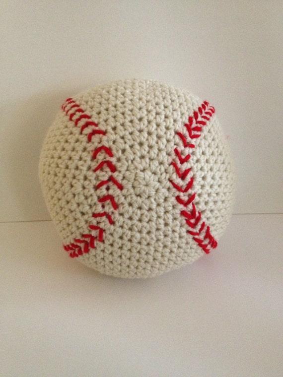 Crochet Baseball Pillow