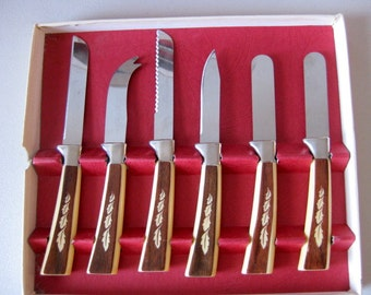 Vintage knife set 18 piece Regent Sheffield cutlery set
