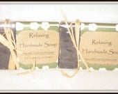 Relaxing All Natural Handmade Soap --- Soft Scent!